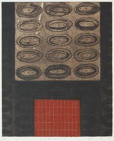 """林孝彦 HAYASHI Takahiko 1996 徳山村考-鬼さんこちら Considering """"Tokuyama Village""""-Blindman's Buff 36.2 x 29.6cm copperplate print with chine colle'( etching)"""