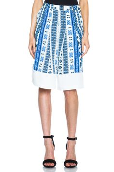 Shop for Altuzarra Poetry Silk Shorts in Blue Romanian at FWRD. Romanian Women, Silk Shorts, Peasant Blouse, High Waisted Skirt, Cute Outfits, Luxury Clothing, Celebrities, My Style, Skirts