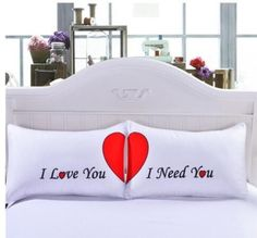 I Love You Wedding Cushion Cover, Need You Pillow Case,Red Heart Pillowcase,Couple Pillow Cover,Wedding Decorative Cushion Case Cute Pillows, Soft Pillows, Bed Pillows, Red Bedding, Bedding Sets, Autumn Bedding, Luxury Bedding, I Love My Hubby, Fancy Houses