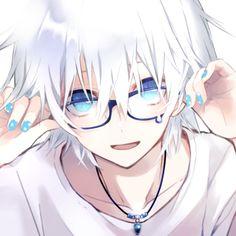 Wolf Boy Anime, Anime Demon Boy, Anime Girl Crying, Anime Boy Hair, Anime Child, Anime Picture Boy, Cute Anime Pics, Cute Anime Boy, Blue Anime