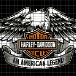 Harley Davidson – An American Legend (Chart/Graph AND Row-by-Row Written Instructions)