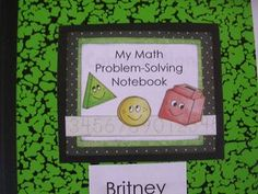 """day-by-day instructions on how to implement Math Problem-solving Notebooks in kindergarten; like """"problem solving"""" for the title Math Journal Labels, Math Notebooks, Math Resources, Math Activities, Art Education Projects, Math Measurement, Math Problem Solving, Art Lessons Elementary, Math Lessons"""