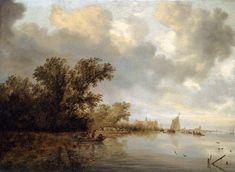 RUYSDAEL, Salomon van River Landscape c. 1640 Oil on panel, 64 x 89 cm Private collection