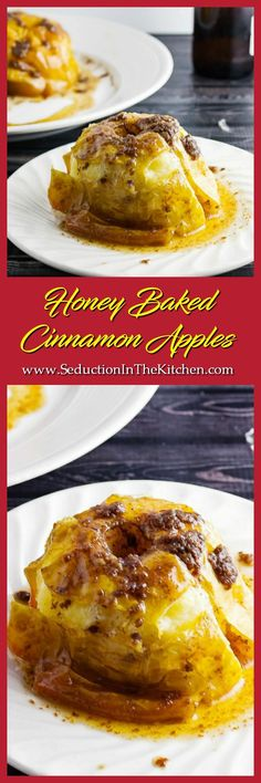 Honey Baked Cinnamon Apples is a simple and easy dessert you can make at home. You can even with a scoop of ice cream. via @SeductionRecipe