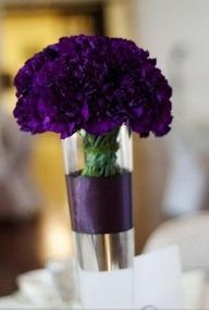 purple carnation centerpiece - Google Search
