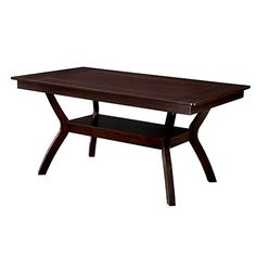 Furniture of America Mullican Display Top Dining Table - Dark Cherry