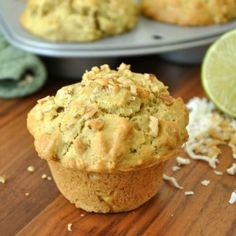 Coconut-Lime Avocado Muffins