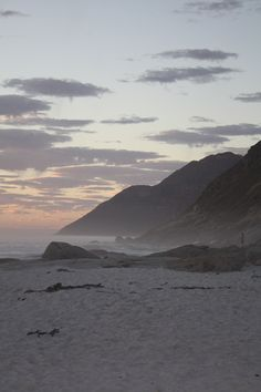 Noordhoek Beach just after sunset