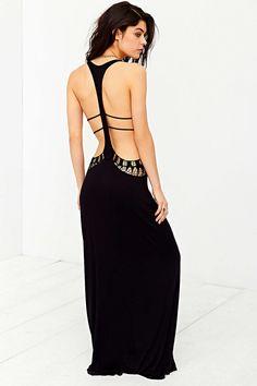 Staring At Stars Crochet Cutout Cover-Up Maxi Dress