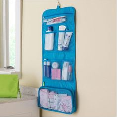 2017 New Portable Hanging Organizer Bag Foldable Cosmetic Makeup Case Storage Traveling Toiletry Bags Wash Bathroom Accessories