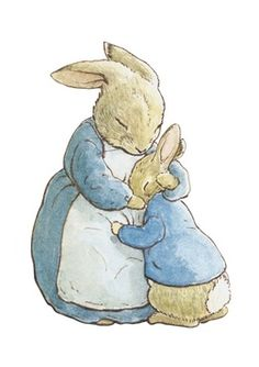 °easter in blue° Peter Rabbit by Beatrix Potter Rabbit Illustration, Illustration Noel, Rabbit Drawing, Rabbit Art, Coelho Peter, Beatrix Potter Illustrations, Beatrix Potter Books, Beatrix Potter Nursery, Beatrice Potter