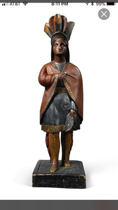 African American History, American Art, Cigar Store Indian, Mystic Seaport, Indian Princess, European Furniture, Art Carved, West Indian, Sculpture Art