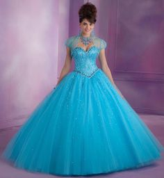 Photos of Vizcaya Quinceanera Lace Back Dress 89007