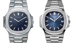 30 years of evolution – the 1976 Nautilus 3700/1A (left) and the 2006 Nautilus 5711/1A
