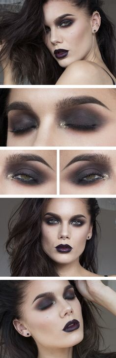 make-up linda hallberg dark makeup golden glitter - - make-up linda hallberg dark makeup golden glitter Concealer Tips Undereye How To Apply 2019 Concealer Tips Ideas and all Women and Men Concealer Tipss. Goth Makeup, Dark Makeup, Makeup Inspo, Makeup Tips, Makeup Ideas, Makeup Geek, Natural Makeup, Makeup Blog, Matte Makeup