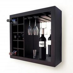 Cava de Vinos FS Wine Rack Wall, Wood Wine Racks, Bar Unit, Coffee Bar Home, Small Bars, Wine Cabinets, Wine Storage, Home Decor Kitchen, Bars For Home