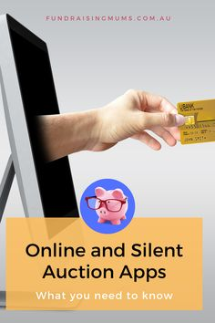 A detailed look at apps and online silent auction software available for schools and other fundraising groups   Fundraising Mums School Fundraisers, Silent Auction, Auction Items, Fundraising, Schools, Need To Know, Software, Apps, How To Plan
