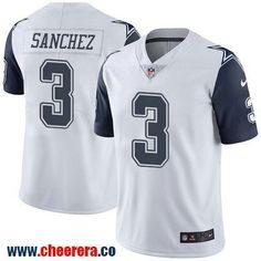 Men's Dallas Cowboys #3 Mark Sanchez White 2016 Color Rush Stitched NFL Nike Limited Jersey