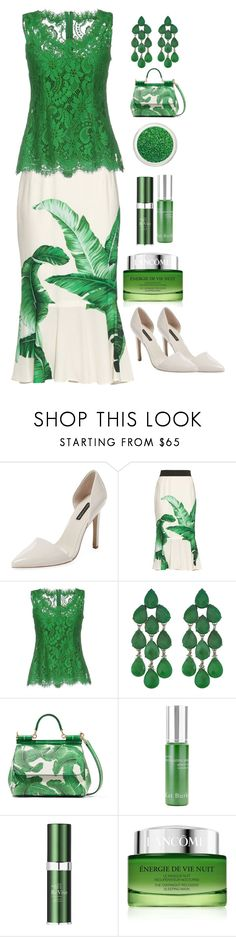 """""""Green"""" by lisa-sanborn ❤ liked on Polyvore featuring Ava & Aiden, Dolce&Gabbana, Siman Tu, Kat Burki, RéVive and Lancôme"""