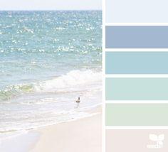 { shore tones } image via: The post Shore Tones appeared first on Design Seeds. Paint Colours 2017, Interior Paint Colors, Paint Colors For Home, House Colors, Design Seeds, Beach Color Palettes, Palette Design, Sea Glass Colors, Coastal Colors