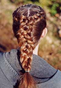 I remember doing this to my best friend's hair in high school. I could plat-braid anyone's hair but my own.