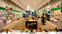 Store of the future. The Body Shop - London - Imagination. Modern natural design.