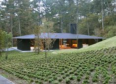 Landscape Architecture Roof Ideas New Ideas Japanese Architecture, Facade Architecture, Residential Architecture, Contemporary Architecture, Landscape Architecture, Japanese Modern, Japanese House, Modern Barn House, Stone Houses