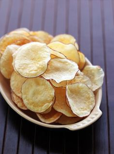 Use this microwave recipe to make Healthy Potato Chips.