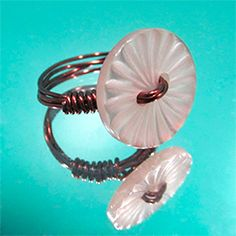 Make your own button ring using a button, wire, pliers and a ring sizer.