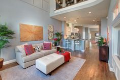This Beautiful Living Room In Our Viridian Community In Arlington Boasts Of  High Ceilings And A. Interior Design ...