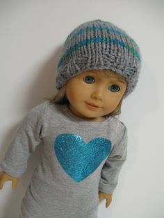 American Girl Doll Clothes   Turquoise Heart by 123MULBERRYSTREET, $25.00