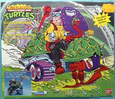 TMNT Teenage Mutant Ninja Turtles Sludgemobile Rare German Packaging