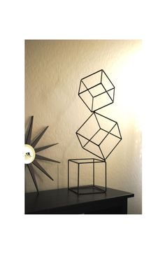 Metal Abstract Art Sculpture Modern Retro Simple Table Decor