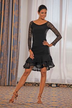 Dance America S315 - Lace Ruffled Skirt :: Ballroom Dancing Shoe :: Ladies Apparel :: Skirts