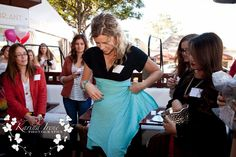 Demonstrating all the ways to wear your BORELLI Scarf at the SoCal Blogger Meet-up