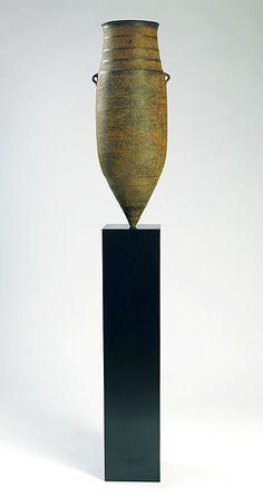 Ceramics by Jason Wason at Studiopottery.co.uk - 2010. _Silent Witness_ - bronze Size, including plinth 165cm x 24cm.