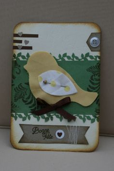 Carte cadeau fait main pour pâques réalisée avec la Fuse Creativity System™ Fiskars.