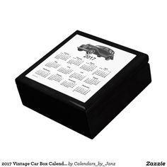 2017 Vintage Car Box Calendar by Janz