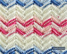 MyPicot | Free crochet pattern for the Textured Wave stitch
