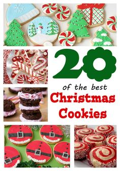 CHRISTMAS: 20 of the best Christmas Cookies.  Great ideas to use or great ideas to springboard your own great ideas!