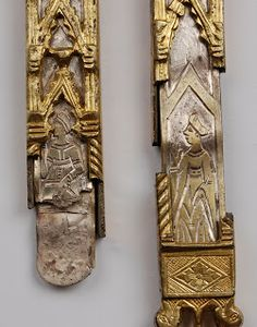 Belt ends, gothic style, Italy. ca 14,15th century.