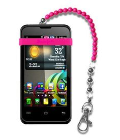 MyBunjee® Beaded For BlackBerry Bold Touch 9900 - Pink Strap