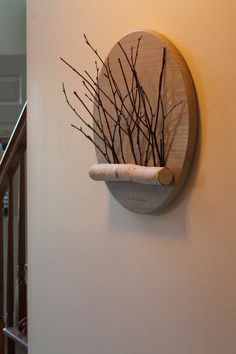 The Woods Are Calling This beautiful, one-of-a-kind White Birch and Red Dogwood Twig Wall hanging is custom designed and crafted. Wooden Art, Wood Wall Art, Diy Wood Projects, Wood Crafts, Diy Wall Decor, Diy Home Decor, Tree Branch Decor, Twig Art, Deco Nature