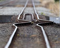 Christchurch train tracks after the earthquake