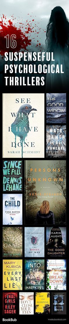 16 suspenseful psychological thriller books to read in 2017. If you love a twisty story, these books are worth reading.