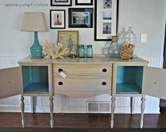 leisure living: Custom :: Buffet Annie Sloan french linen + old white.