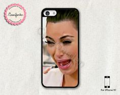 """What?!?! """"Kim Kardashian Cry Ugly Face iPhone 5C Case, iPhone Case, iPhone Hard Case, iPhone 5C Cover"""""""