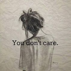 I sometimes care though