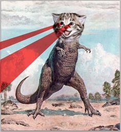 Kittysaurus Rex - Meeeeeooooaaaarrr! _ Dino Kitty / Laser Kitty