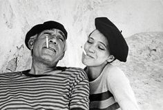 Anthony Quinn and Anna Karina, 1967. Photo by Eve Arnold.